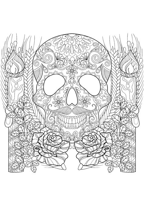 skull coloring pages for adults skull coloring pages for adults