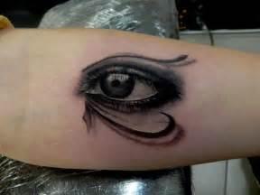 forearm black and grey eye of horus tattoo chronic ink