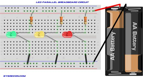 circuit to breadboard parallel circuit sysrecon
