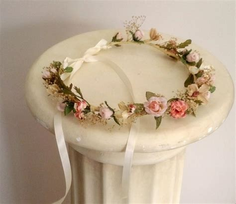 flower wedding wreath woodland bridal bridal flower crown