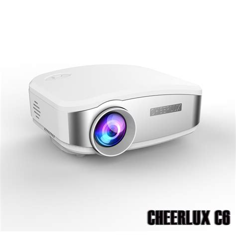 Lu Led Projector brand new 2015 newest cheerlux c6 lcd mini projector led beamer priyector hd best for home