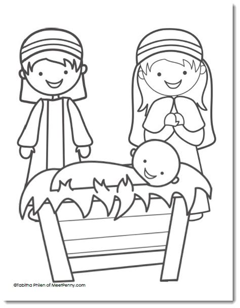 nativity mary coloring page 17 best ideas about nativity coloring pages on pinterest