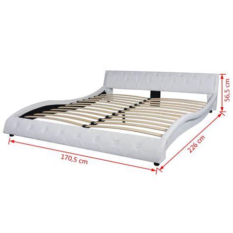matratzen angebote 160x200 vidaxl bett mit matratze kunstleder 160x200 cm wei 223