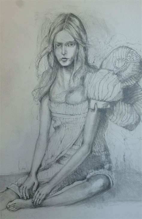 I Pencil Sketches by Drawing Kate Thompson Mixed Media