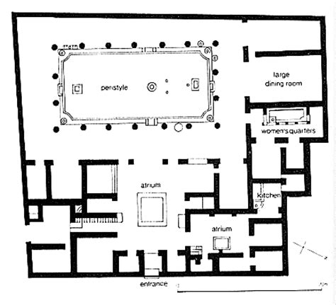 house of the vettii floor plan house of the vettii pompeii 2nd c bc hellenized domus