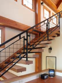cheap metal stair railing home design ideas pictures