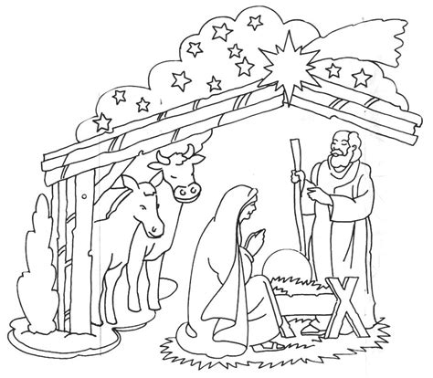 nativity coloring pages in spanish xmas nativity window colour learningenglish esl