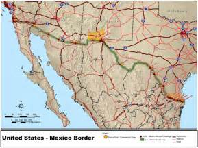map of us mexico border mapsof net