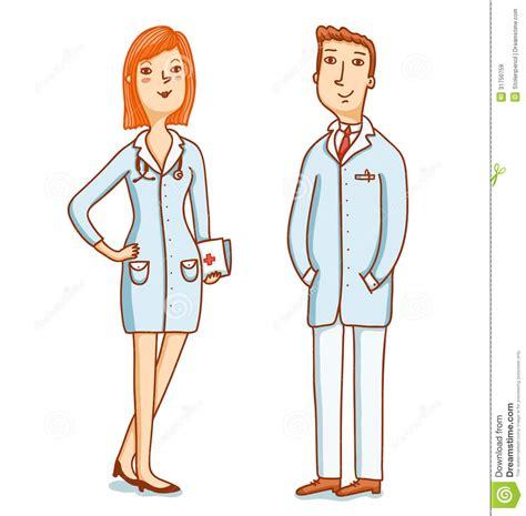 imagenes animadas de doctores dos caracteres de los doctores ilustraci 243 n del vector
