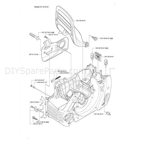 husqvarna chainsaw parts diagram husqvarna 460 chainsaw 2006 parts diagram page 6