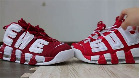 Harga Nike X Supreme Uptempo real vs supreme x nike air more uptempo hd review