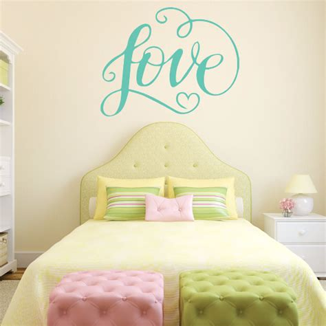 love wall decals for bedroom love wall decals and decor for girls bedroom