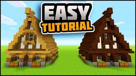 easy casa minecraft simple easy efficient survival house tutorial