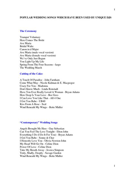 Wedding Songs List In by Wedding Reception Song List Shenandoahweddings Us