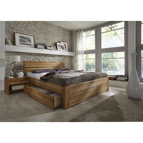 bett massivholz schubladen massivholz schubkastenbett 140x200 easy sleep eiche massiv