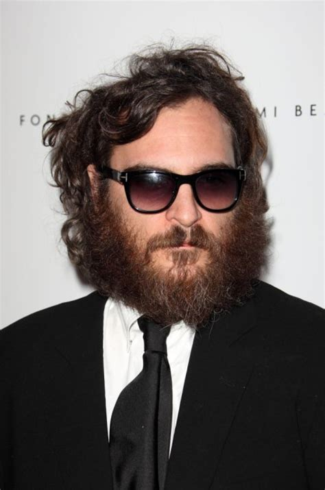 celebrity with red hair and beard joaquin phoenix bad celebrity facial hair askmen
