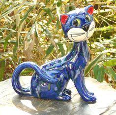 Gartendeko Blau by 1000 Images About Katzen Keramik On