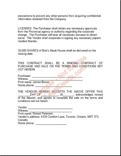 Free Sle Contract Letter Of Agreement Sale Agreement Free Printable Documents