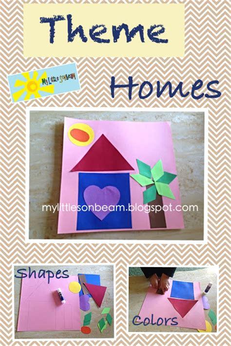 little family fun shape house educational craft my little sonbeam september week 2
