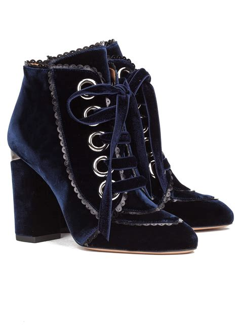 High Heel Ankle Boots Velvet velvet lace up heeled ankle boots shoe store pura