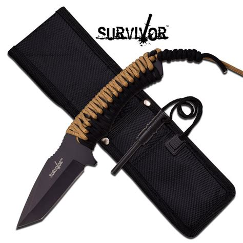 tanto rescue knife survival tanto tang paracord fixed blade rescue knife