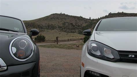 2012 Mini Cooper S 0 60 by Vw Golf R Vs Mini Cooper S Coupe 0 60 Mph Mile High Mashup
