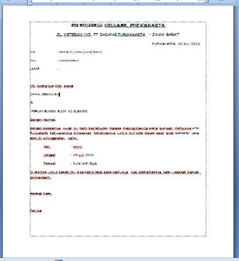 membuat surat undangan rapat jawaban uas membuat data surat undangan rapat menggunakan