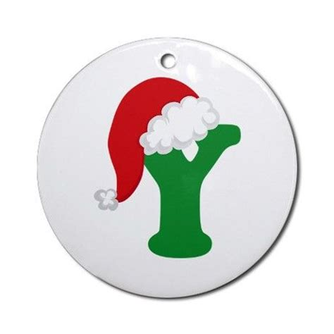 christmas letter y alphabet ornament round on