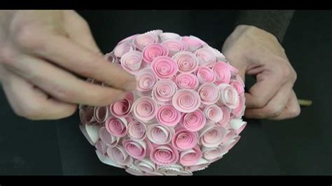 paper flower topiary tutorial memory box paper rose topiary doovi
