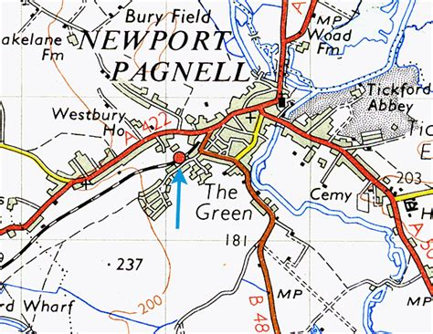 map uk wolverhton disused stations newport pagnell station