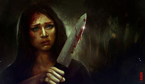 killer horror horror creepy blood killers artwork knives