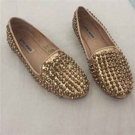 steve madden gold loafers 82 steve madden shoes steve madden gold sparkly