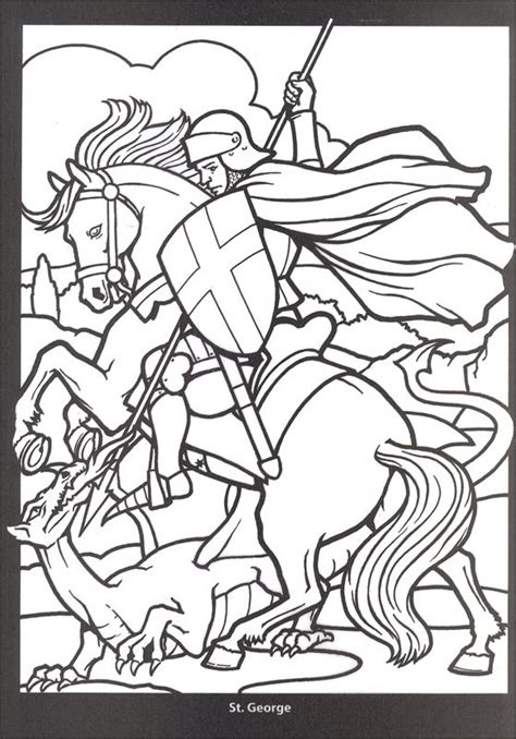 coloring pages dragons and knights medieval stained glass coloring pages bing images
