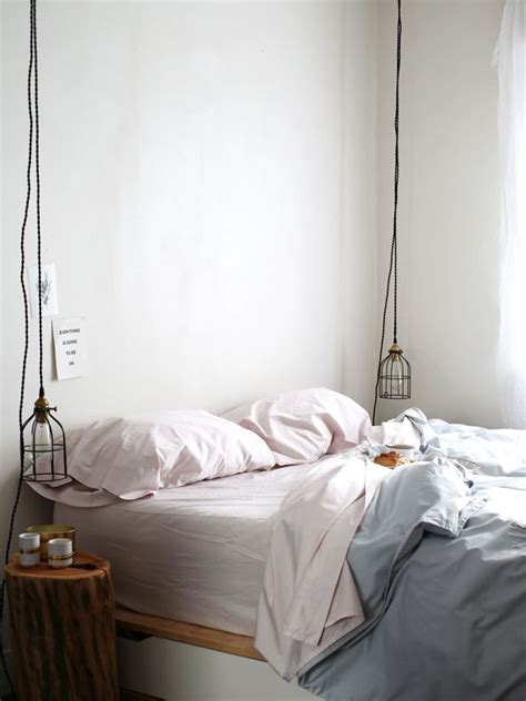 Pendant L Bedroom by Warm Modern Bedroom With Pastel Bedding And Hanging