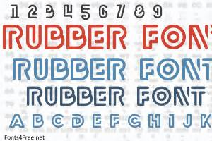 rubber st font free rubber font fonts4free