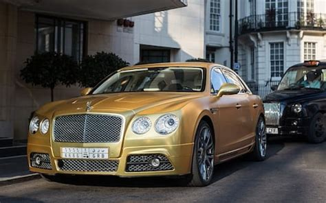 bentley car gold saudi tourist brings four gold cars worth more than 163 1m to