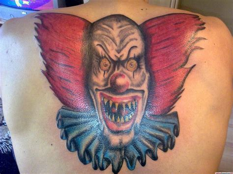scary clown tattoos scary clown tattoos