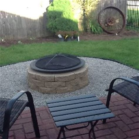 Small Firepit Pit In Small Yard Decorating Project Ideas