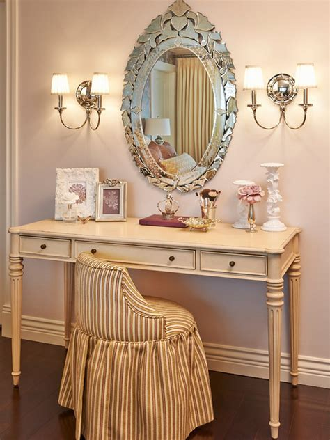 Vintage Style Vanity Table Vintage Style Of Antique Vanity Table Design With Wall Lights And Oval Mirror Mounted Idea Plus