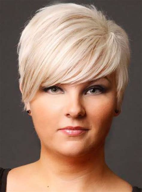 fine hair double chin short haircuts for fat faces and fine hair short hair
