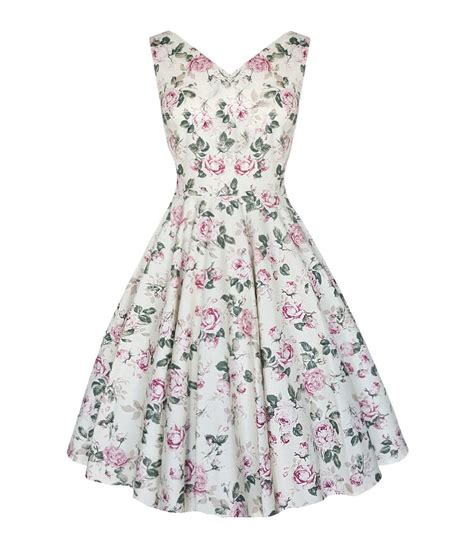 Flowery Dress By Delima Style floral vintage style v neck skirt dress available up to size 20