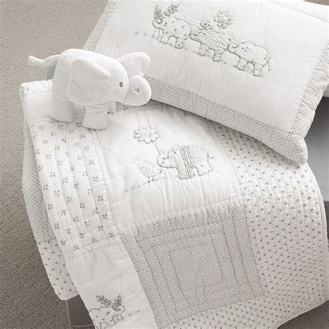 Modern Elephant Crib Bedding Baby Elephant Quilt Cushion Modern Baby Bedding By The White Company