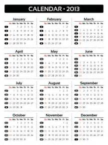 Calendar For 2013 Calendar For Year 2013 United States Time And Date