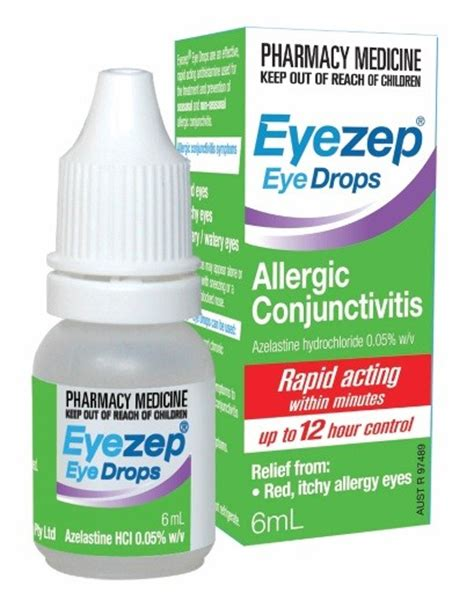 eye drops conjunctivitis eyezep eye drops allergic conjunctivitis 6ml at terry white chemists