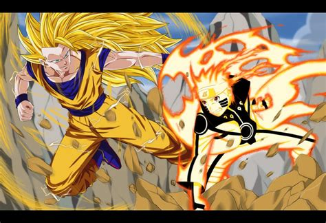 imagenes de goku vs naruto commission naruto vs goku by dannex009 on deviantart
