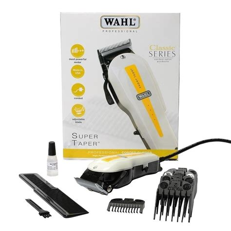 Amity Cl 2000ta Hair Clipper wahl taper professional corded clipper white color