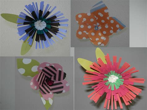 How To Make Flowers From Construction Paper - construction paper flowers gallery flower
