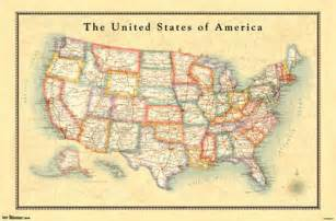 america map poster map of the united states poster 22x34 shrink wrapped