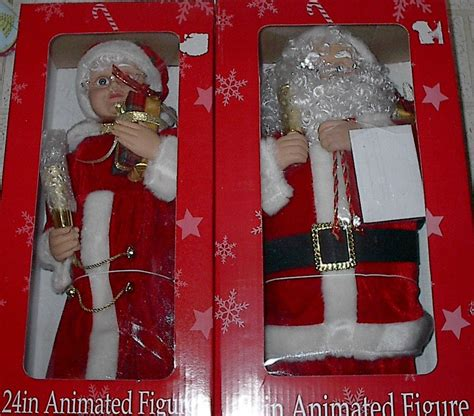 24 inch animated illuminated santa and mrs claus set