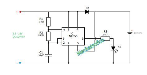 led indicator circuit diagram battery charging rate indicator circuit mechatrofice